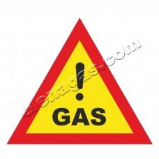 Стикер Внимание газ