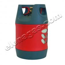 Композитна газова бутилка 18л. с ъглов кран