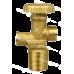 Кран спирателен Cavagna за битова бутилка немски тип с предпазен клапан