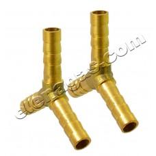 Тройник за газ У- образен 8-8-8 месинг