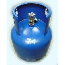 Бутилка за пропан-бутан с ъглов вентил 27л. за газокар