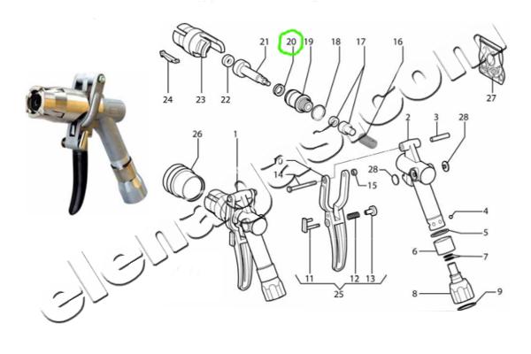 Семеринг глава за пистолет за зареждане на автогаз - схема