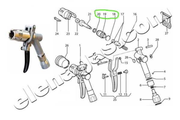 Глава за пистолет за зареждане на автомобилна газ