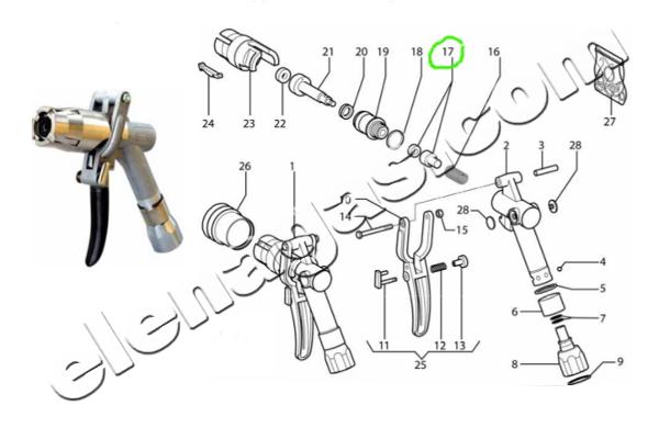 Клапан комплект за пистолет за зареждане на автомобилна газ