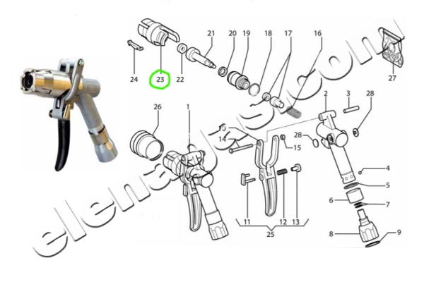Сепаратор-гилза за пистолет за зареждане на автогаз