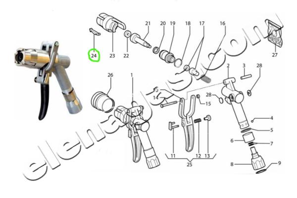 Зъб за пистолет за зареждане на автомобилна газ